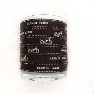 Brown Hermes Paris Logo Product Grosgrain Ribbon